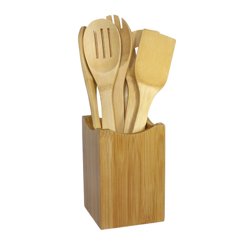 Oceanstar Bamboo Cooking Utensil Set 7 Piece Online E Commerce